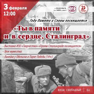 Ты в памяти и в сердце, Сталинград